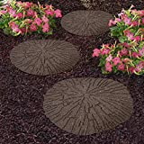 Garden Gear Reversible Stepping Stones Eco-Friendly Cracked Log...