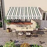 Greenbay 3 x 2.5m DIY Patio Retractable Manual Awning Garden Sun...