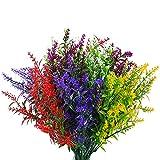 10 Pcs Artificial Lavender Flowers, Fake Faux Lavender Bouquets,...