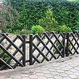 Brown 3.5 m long plastic garden picket fence, 4 colour