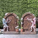 Pelle & Sol Fairy Set of 2 Door Home Garden Ornament - Outdoor...