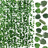 Auihiay 93 FT 12 Strands Artificial Ivy Garland and 24 Pieces...
