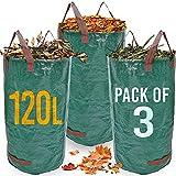 Heavy Duty Garden Waste Bags - 120 Litre - 3 Sacks - Industrial...