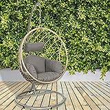 GardenCo Milan Hanging Egg Chair - Outdoor and Indoor Rattan...