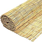 BPIL Garden Natural Peeled Reed Screening Roll Screen Fence...