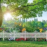 Xpork 6 Pack Wood Plastic Fence Plastic Effect Lawn Garden Edging...