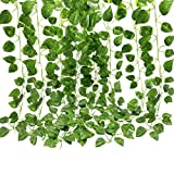 GoFriend 12 Strands (83 Feet) Artificial Ivy Garland Foliage...