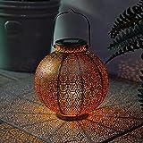 Festive Lights - Moroccan Solar Lantern - Outdoor Garden Table...