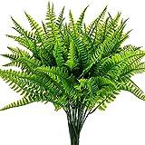 Leixi 6pcs Artificial Plants Fake Plastic Greenery Shrub Bushes...