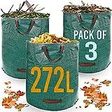 Heavy Duty Garden Waste Bags - 272 Litre - 3 Sacks - Industrial...