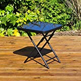 Kingfisher FSDT Folding Drinks Side Garden Patio Table - Black...