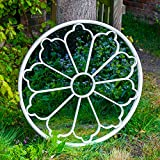Woodside Upton Large Decorative Round Outdoor Garden Mirror,...