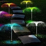 LiyuanQ Solar Garden Lights, 5 Pack LED Jellyfish Shape Fiber...