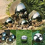 Caprican Set of 4 Silver Stainless Steel Spheres Gazing Balls...