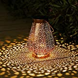 Solar Lanterns Outdoor, Othran Moroccan Lantern Hanging Garden...