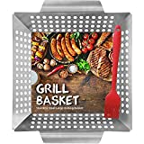 HomeMall Grill Basket for Meat & Vegetables - Large BBQ Grilling...