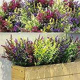 12 Bundles Artificial Lavender Bushes Artificial Flowers for...
