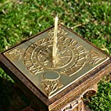 Black Country Metal Works Polished Brass Four Seasons Sundial