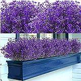 12 Bundles Artificial Shrubs Bushes Artificial Flowers Outdoor UV...