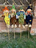 4 NEW 32' LARGE SCARECROW GARDEN DECORATION WITH HANG TAG