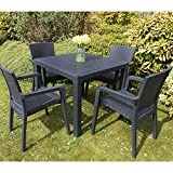 Outdoor Patio Furniture Set 4 Chairs Table Garden Coffee Bistro...