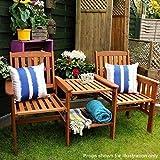 garden mile Acacia Hardwood Garden Love Seat Twin Jack And Jill...
