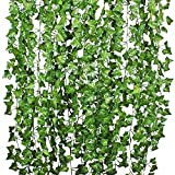 YQing 84 Ft-12 Pack Artificial Ivy Leaf Garland, Artificial Ivy...