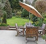 GlamHaus Garden Parasol Tilting Table Umbrella, UV 40+...
