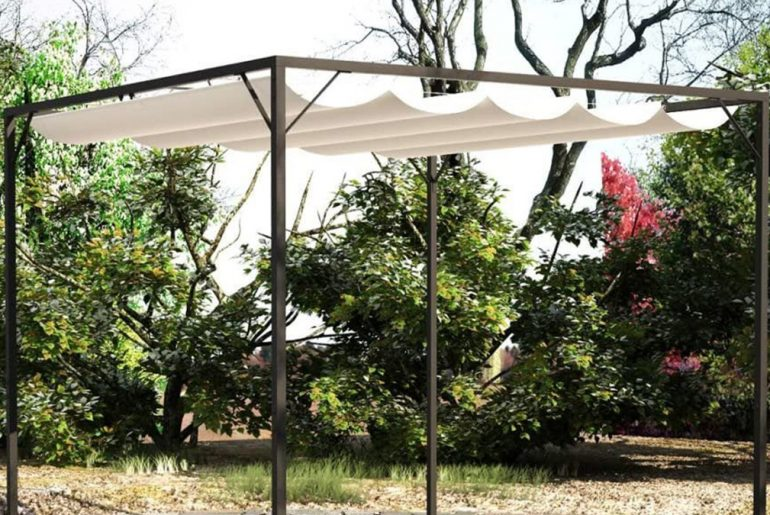 gazebo with retractable roof