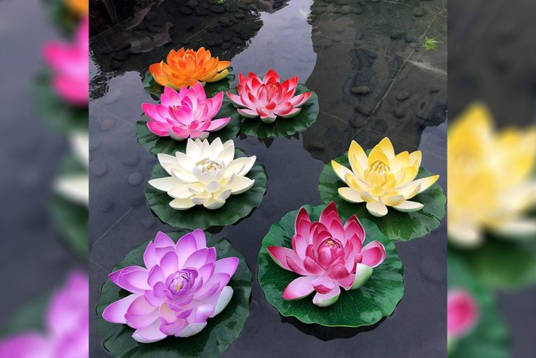 Artificial plants for pond